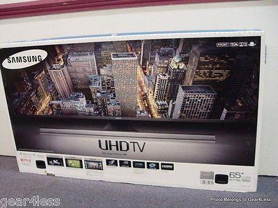 awesome Samsung UN65JU7100 65 LED LCD UHD Smart 3D 3-D Flat Screen TV UN65JU7100FXZA 4K - For Sale