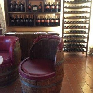 o vinho chianti- a sala