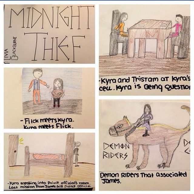 Thanks to Chloe from LA for sending in her Midnight Thief book report!