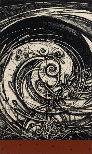 Takahiko Hayashi, Spinning Wind etching