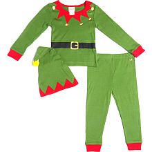Tuck in your little elf this Christmas with this three piece pajama set. #BRUChristmas