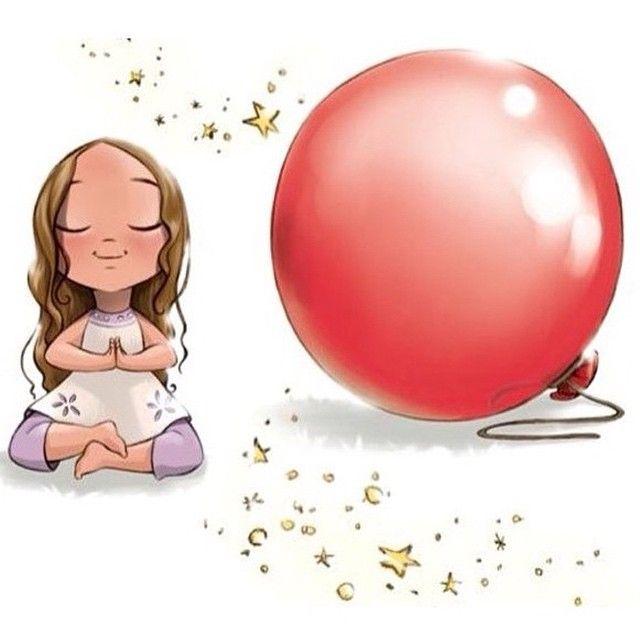 Day 2 Of The SummerFunYoga Kids Yogachallenge Here Is Lucinda Doing Balloon Breathing Or