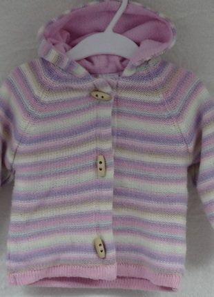 Kaufe meinen Artikel bei #Mamikreisel http://www.mamikreisel.de/kleidung-fur-madchen/outdoorbekleidung-jacken/33266276-madchen-weste-gestrickt-gefuttert