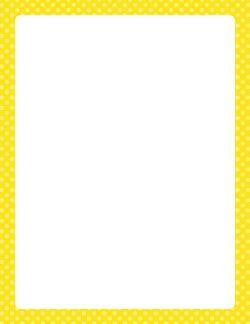 Yellow Polka Dot Border
