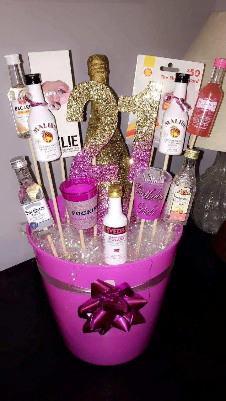 Fun 21st Birthday Gift Basket Ideas