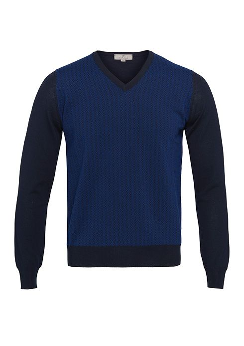 A blue sweater with Canali Texture for a relaxed style #ledizione #200steps #ss14 #menstyle #canali1934 #canali