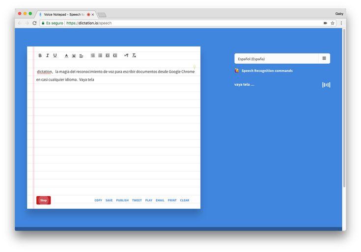 Dictation, la magia del reconocimiento de voz para escribir documentos desde Chrome en casi cualquier idioma -  Lasherramientas de dictado para escribir documentosno son algo nuevo, pero sin duda actualmente se encuentran en un nivel sumamente superior al de hace algunos años. Y lo mejor es, que no necesariamente tienes que pagar por un software especializado, el mismo Microsoft, por ejemplo, ofrece de... - https://notiespartano.com/2018/01/16/dictation-la-magia-del-reco