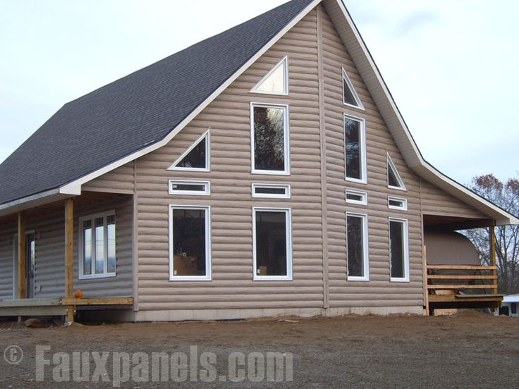 19 Best Log Cabin Vinyl Siding Images On Pinterest Log