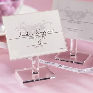 favors and flowers wedding u0026 party supplies wedding favors place card holders clear acrylic floating place frame