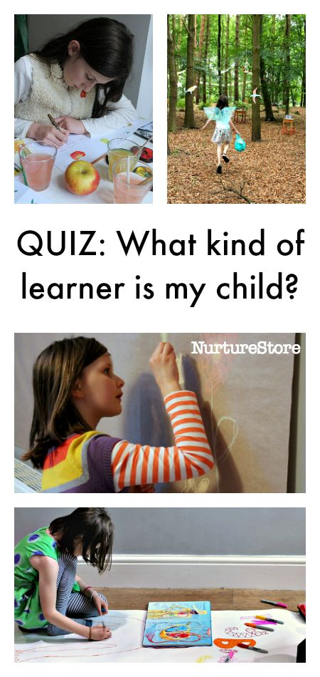 Quiz: what kind of learner is my child - learning styles questionnaire for parents and teachers with activities to match