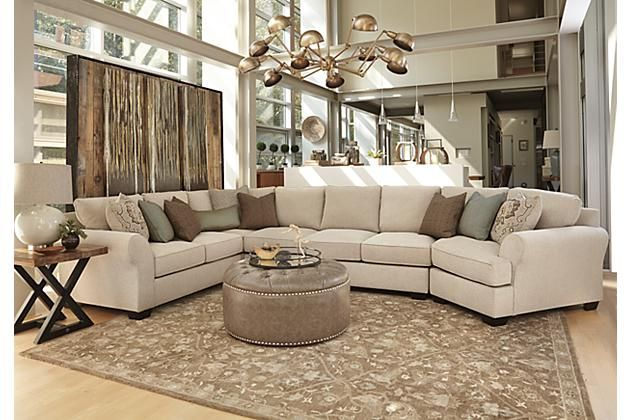 Linen Wilcot 4-Piece Sofa Sectional with Cuddler View 5