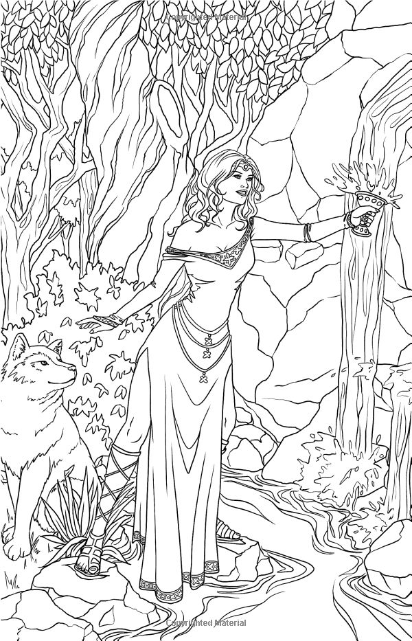 fantasy based coloring book pages - photo#39