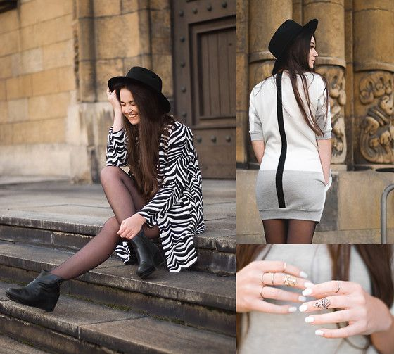 Keyce Dress, Choies Coat, Vagabond Shoes, Seeberger Hat Keyce love People <3