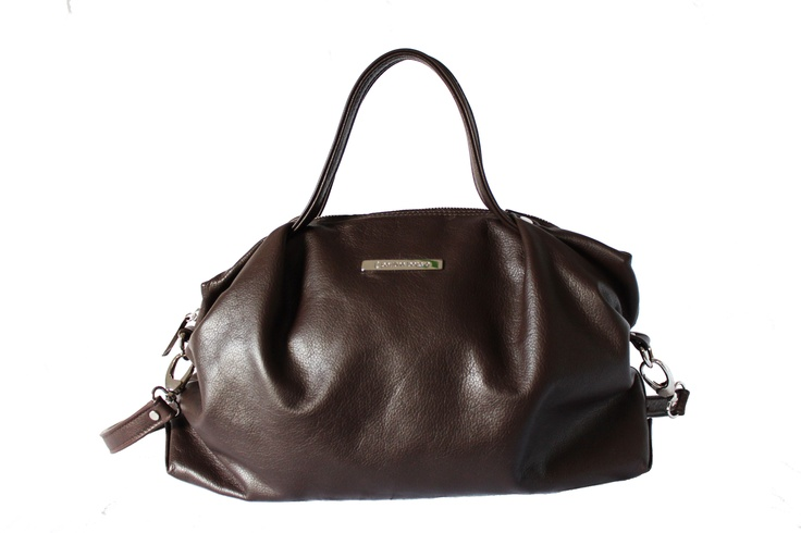 Dark brown leather bag By Paulina Botero