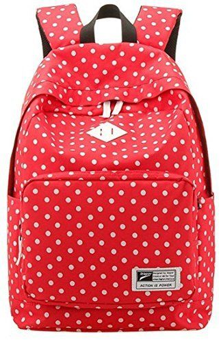 Amazon.com: Urparcel Lightweight Casual Daypack Backpack for College Bookbag for Women Girls School Bags Red: Clothing