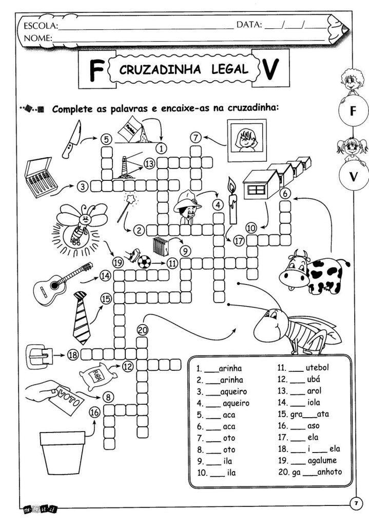 Atividades de ortografia Letras F e V