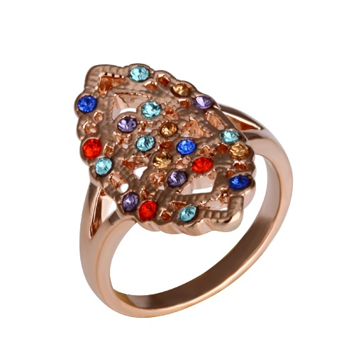 Cheap Swarovski Crystal Golden oval Finger ring SWFR004 R9 [SKI409] - $18.00 - lucky brand , j.crew , lia sophia jewelry on sale !