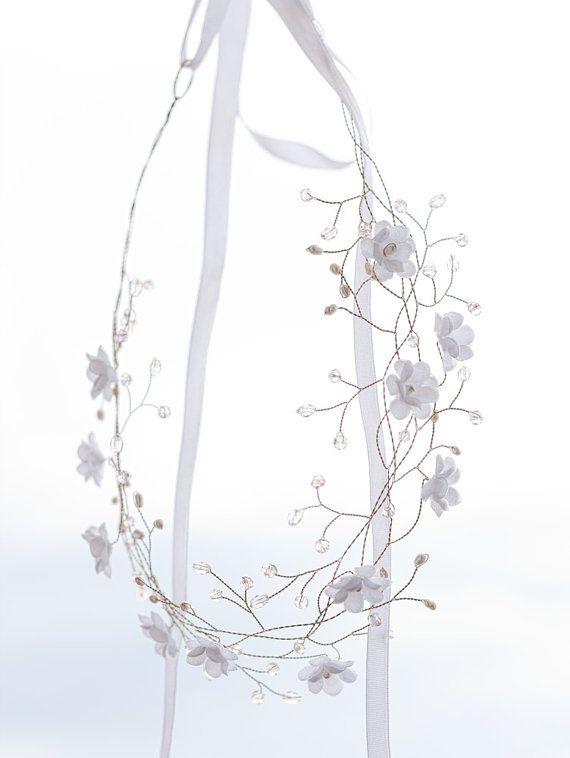 32_Flower crown Flower tiara Wedding hair accessories by ArsiArt