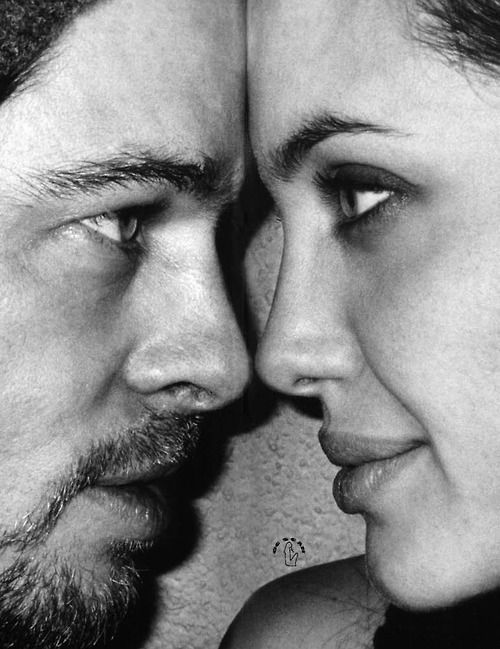 Angelina Jolie & Brad Pitt. I really love this shot of two of the most photogenic people in the world. - Ronni