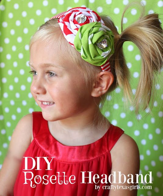 DIY rosette headband tutorial. What a fun and easy craft for girls night! You could make one to match every outfit!