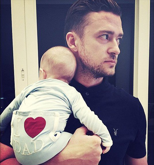 Really, though, how ridiculously cute are Justin Timberlake and baby Silas?!