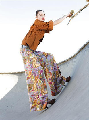 Editorial #Skateboard Fashion Aver Report | Eliza Magazine, Skate Park Editorial, photo by Maria Carmel