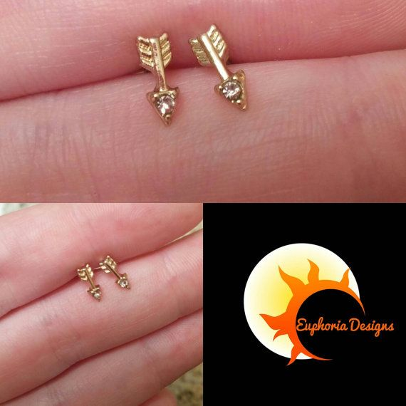 Check out this item in my Etsy shop https://www.etsy.com/ca/listing/459064340/arrow-stud-earrings