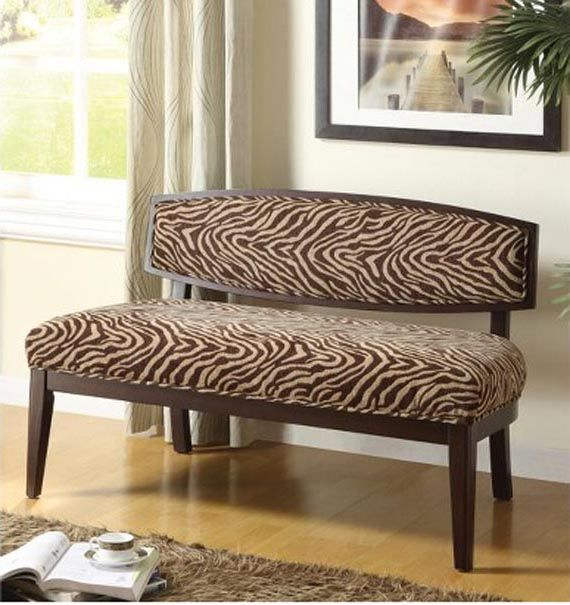 Complete Your Safari Themed Home Decor With Animal Print Bench. Bench  Furniture ... Design Inspirations
