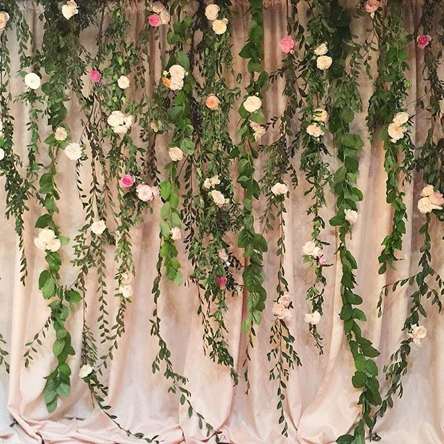 Our backdrop for a #loftonpine wedding in August with @sohappitogether. It was the perfect romantic setting for the ceremony. And yes, we used all fresh greenery and flowers - we had so many people ask at the wedding.