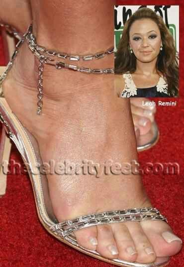 Apologise, but, leah remini feet