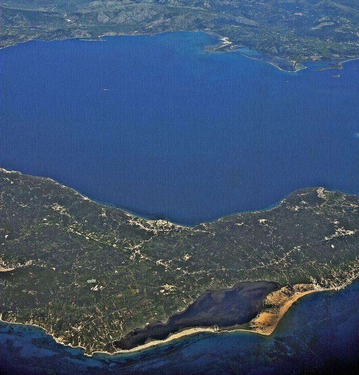 Flying over South Corfu