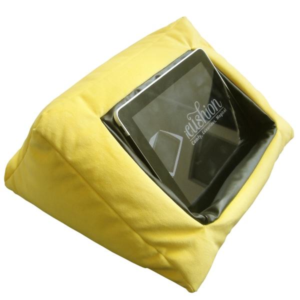 iCushion iPad Cushion Stand Holder Velvet Yellow – MangoTree Ventures Ltd