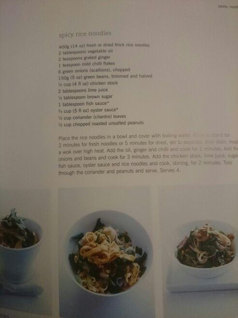 Rice noodles from instant cook by Donna Hay