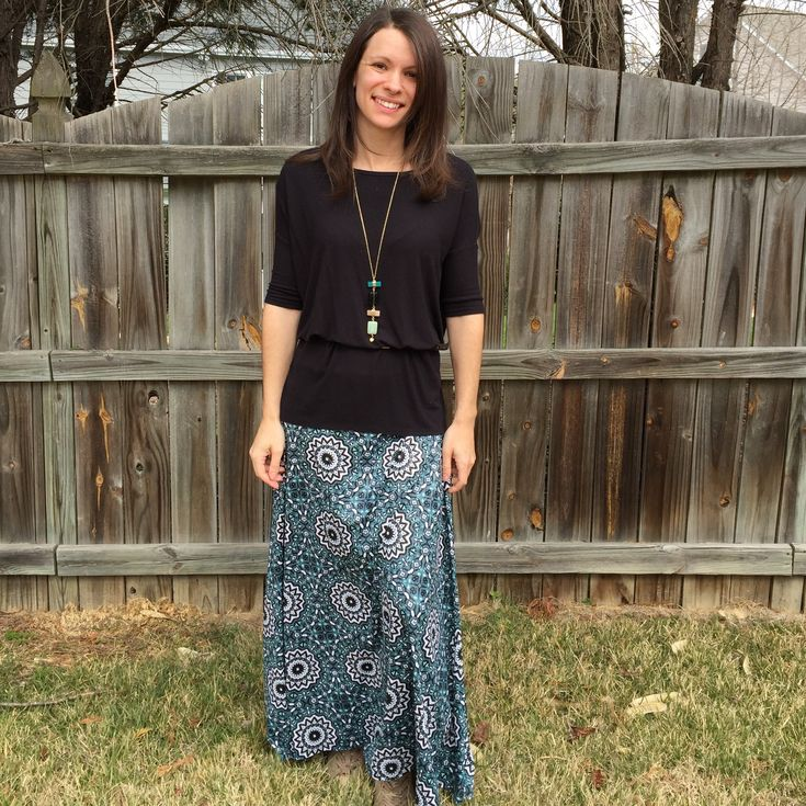 Lularoe Maxi with a Lularoe Irma tunic belted and bloused! ❤