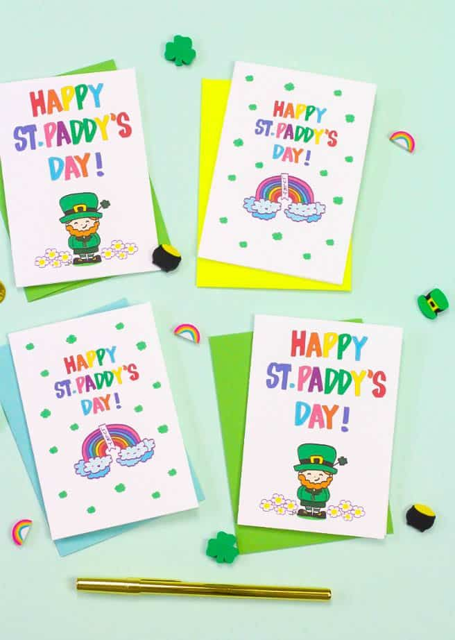 Free Printable Saint Patrick's Day Cards!