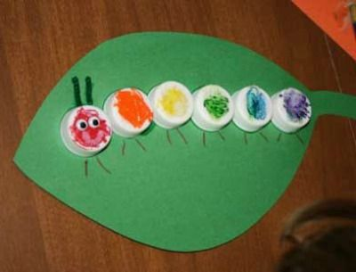 Emma's Diary: Easy Crafts For Kids - bottle top caterpiller-to be made, my friends! to be made.