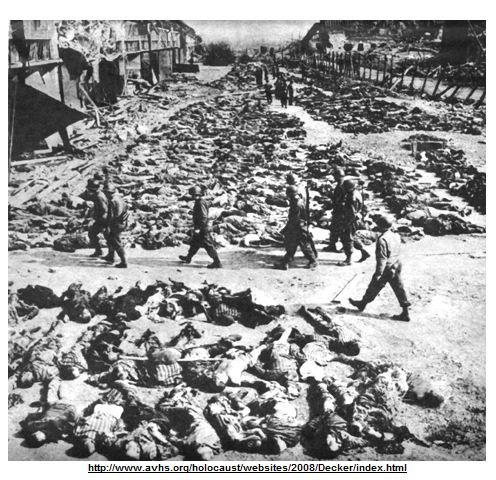 This picture is of solders that have just shot and killed many Jewish people in the streets of a ...