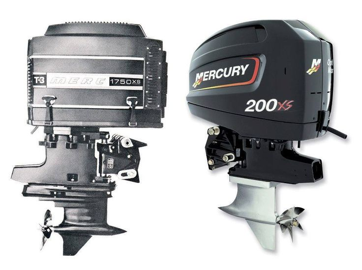 Old vs new race boats pinterest mercury for Buy new mercury outboard motor