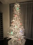 Customer Photo and Review: All the 5 stars are for a good reason! | Flocked White Twig Tree Pre-Lit Full Christmas Tree by Sterling Tree Company Item #GERS485 Starting at $149.98