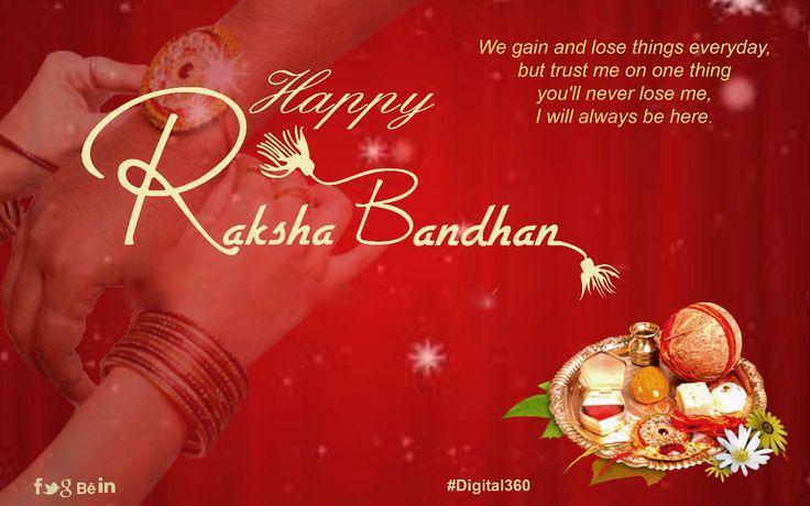 On this Rakhi, let's bring back the lively spirit of childhood, play pranks with each other and become that wacky siblings we were always... Happy Raksha Bandhan #digital360 #rakshabandhan #festival #bond #love #brotherlove #sisterlove #family #life #fun #rakhi #siblinglove