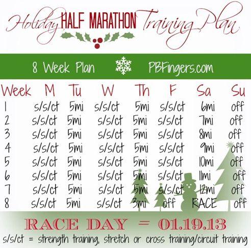 ZOOMA Half Marathon Training Plan...I like that it's 3 days a week and longer runs!