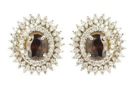 Not into danglers? This pair of American Diamond studs are perfect for you!