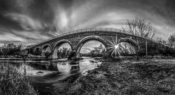 Tiffany Bridge Panorama Photograph by Randy Scherkenbach