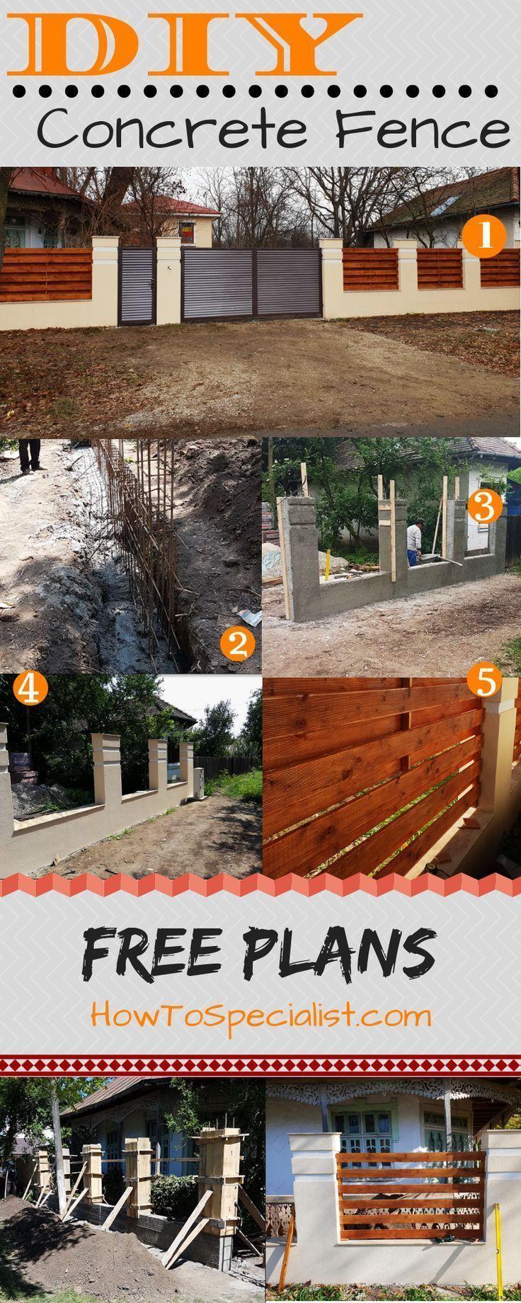 Wie Man Einen Betonzaun Baut Baut Betonzaun Einen Howtobuildafenceonconcrete Man Wie Baut Betonzaun In 2020 Betonzaun Pergola Bauen Zaun Selbstgemacht