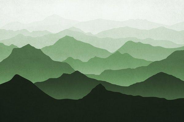 Green Mountains Ii Wall Mural Mountain Mural Green Mountain Wallpaper