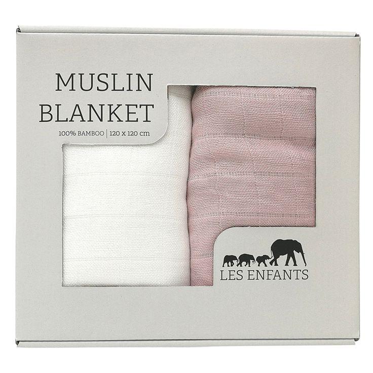 Les Enfants Muslin Blanket 2-pack - Efter förlossning - Apotek Hjärtat