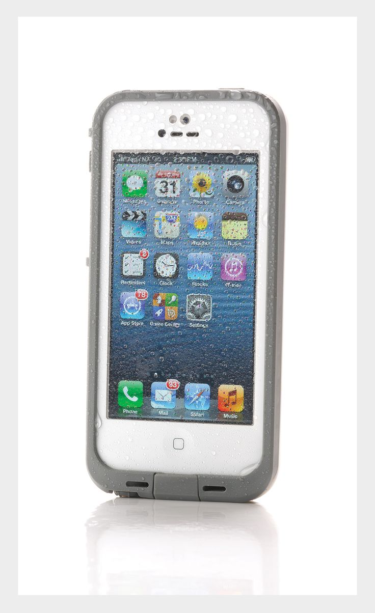 The LifeProof iPhone 5 Case is waterproof to 2M, dirt and dust-proof, military standard tested to withstand drops and shocks to 2M and improves audio output. $89.95 from Telecom at Shore City