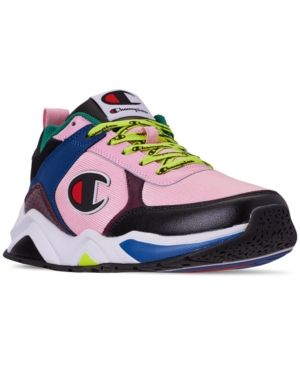 men's 93eighteen casual sneakers from finish line in pink