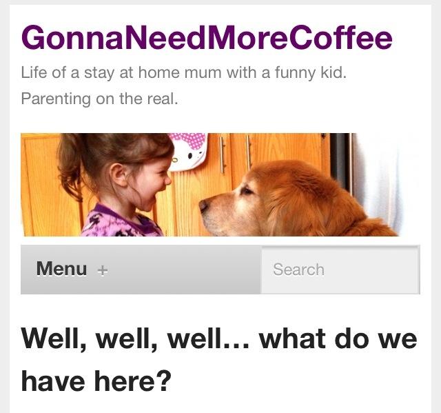 https://gonnaneedmorecoffee.wordpress.com/  My new blog... work in progress. :)