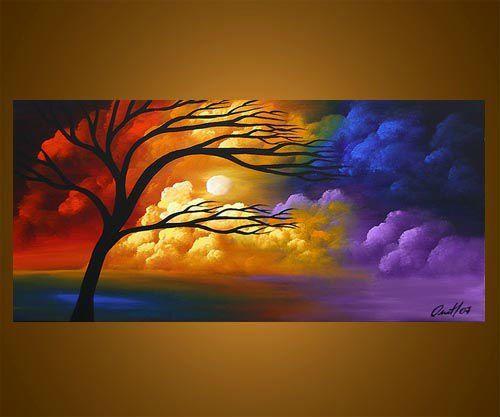 Pinturas en acrilico paisajes buscar con google - Pintura esmalte acrilico ...